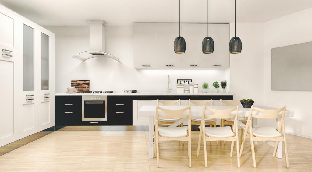 valoisa ja avara keittiö, remontoitu
